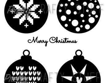 Cut file - Christmas Ornament SVG and PNG file for electronic die cut machines