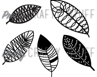 Cut file - Leaves or feathers SVG and PNG file for electronic die cutting machine