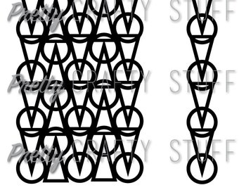 Cut file - Circles and triangles background SVG and PNG file for electronic die cut machines