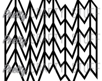Cut file - Wonky Chevron Overlay SVG and PNG file for electronic die cut machines