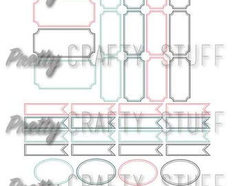 Print and Cut file -Labels in SVG and PNG formats for your digital die cutting machine