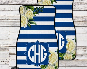 Custom Car Mats, Floral Monogrammed Car Mats, Personalized Car Mat, Custom Car Accessories, Monogram Car Mat, Car Floor Mat, Monogram Car