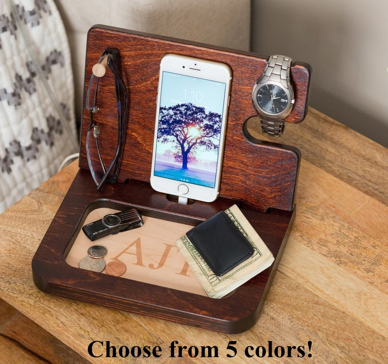 01fe08c58e75 Night Stand Organizer Men s gifts personalized Docking