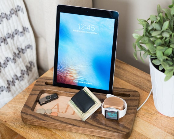 Mehrere Ladestation, Ipad Docking-Station, Apple Watch Dock,  Iphone-Docking-Station, Geschenke für Papa, Herren-Docking-Station,  Herren-Geschenke