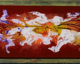 Abstracts on plexiglass