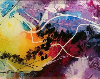Harmony, Modern artwork, abstract painting, acrylic on plexiglass 12