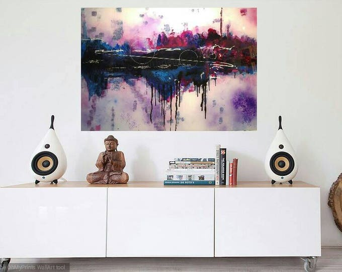 Featured listing image: Dawn _ modern abstract painting  acrylic on plexiglass