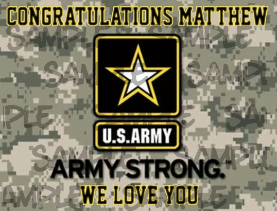 UNITED STATES ARMY Edible Cake Topper Frosting Sheet  quarter /& half sheet