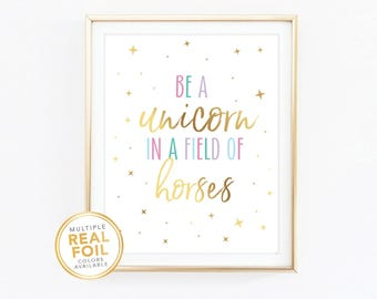 picture regarding Be a Unicorn in a Field of Horses Free Printable identify Business of horses Etsy