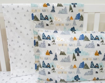 Adventure awaits crib and cot quilt