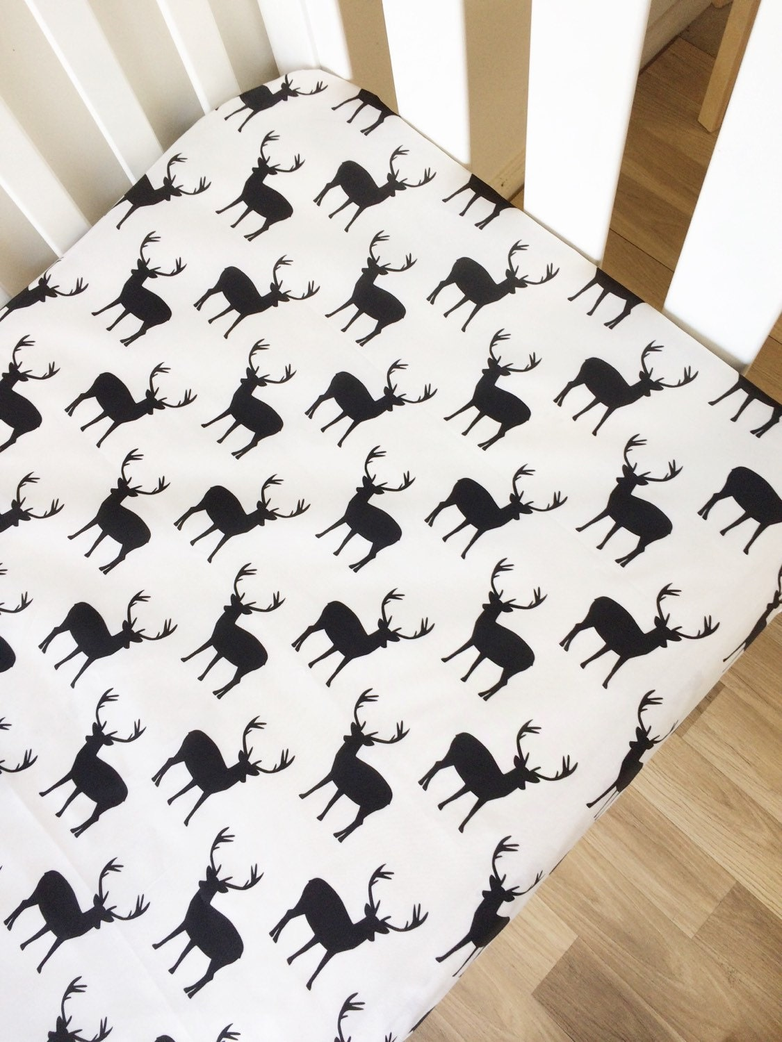 modern fitted crib sheet baby cot sheets deer baby bedding. Black Bedroom Furniture Sets. Home Design Ideas