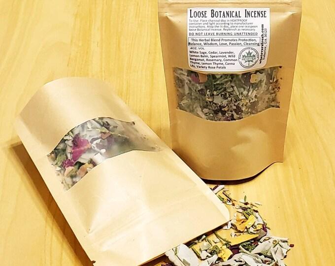 12-PK Loose Botanical Incense Blend (for Smudging) - Renewal and Protection