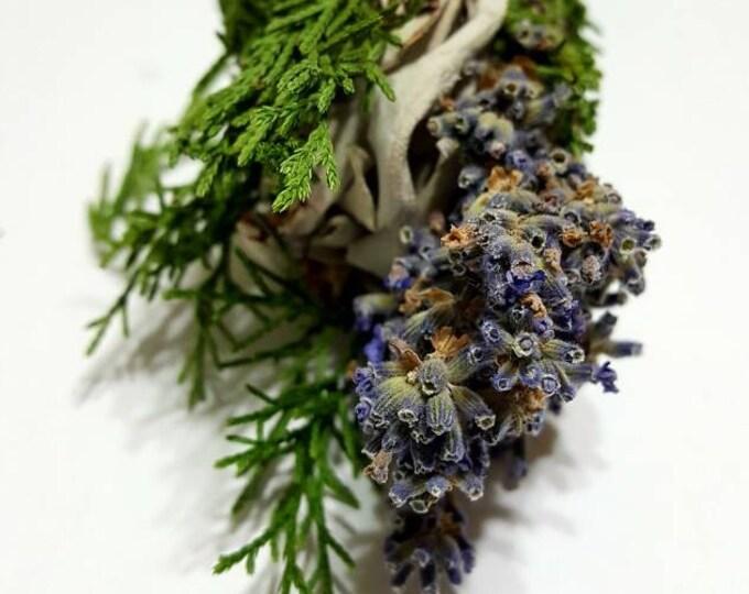 """White Sage, Juniper and Lavender Botanical Incense Stick (6"""" Smudge)"""