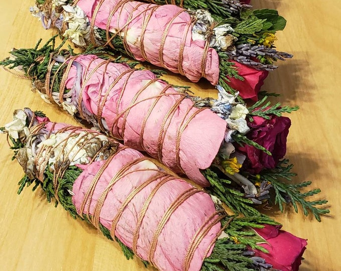 "Wholesale Bundle: Peace&Love 50 Mini Mixed Botanical and/or Lavender, White Sage, Juniper Incense Sticks (5"" Smudge Sticks)"