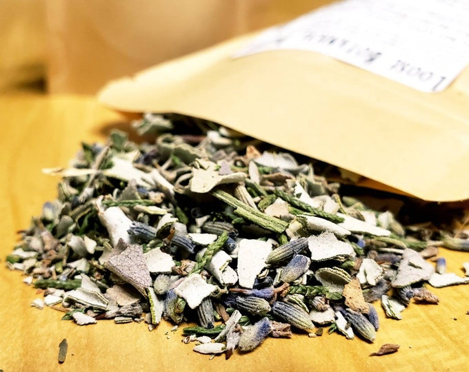 Loose Botanical Incense Blend (for Smudging) - Grounding and Healing with White Sage, Juniper and Lavender Blossoms