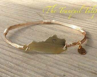 Kentucky Pride Wire Wrapped Bangle Bracelet