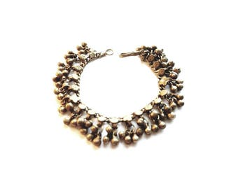 Vintage Antiqued Gold with Noisey Beads Bracelet
