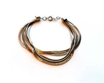 Vintage Korea Silver Multi. Layered Bracelet