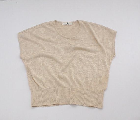 Balmain vintage blouse | Metallic knit blouse | Vi
