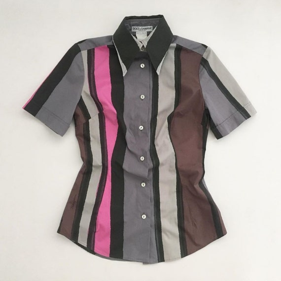 Dolce and Gabbana shirt | 2000s bold colours strip