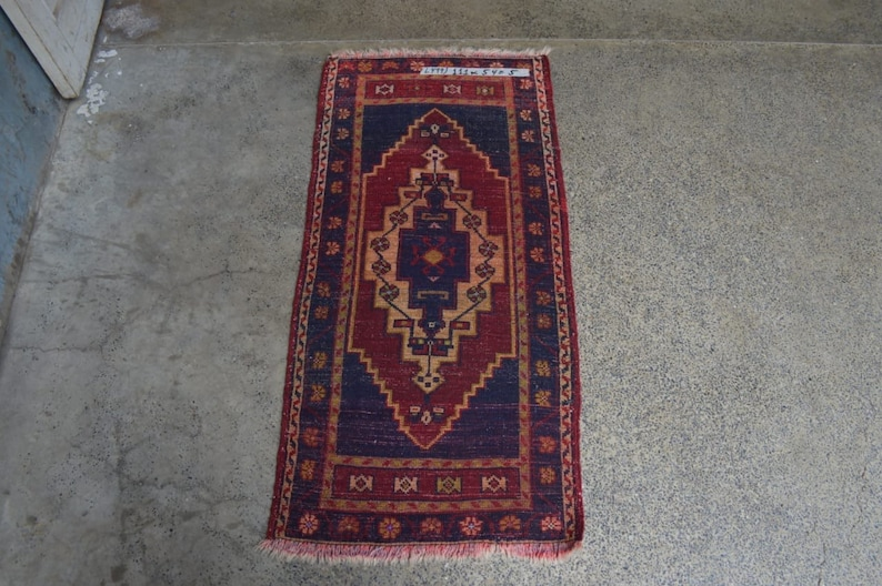 Vintage Turkish Oushak Carpet Gift Item