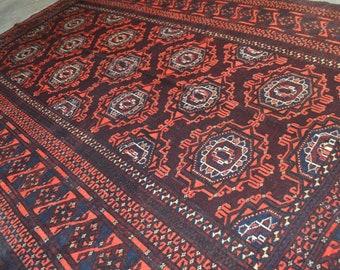6'7 x 4'5 FT Semi Antique Ahal Pattern Turkmenistan CarpetVery Fine Quality Chapat Baft Turkoman Rug LOWEST PRICE