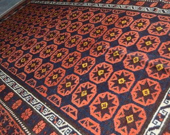 7'8 x 4'3 FT Semi Antique Star Jan Bag Sistan Tribal Carpet