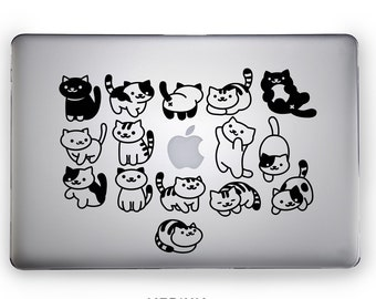 """15 Vinyl decals """"NEKO ATSUME"""" - Pick your color - 15 cute cats - kitty collector tribute - handmade - friend gift"""