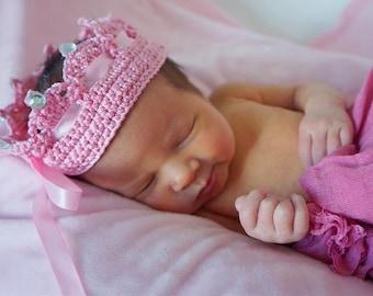 Newborn Princess Crochet Crown