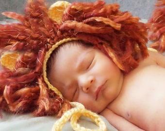 Crochet Newborn Lion Outfit
