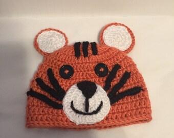 Crochet Newborn Tiger Outfit