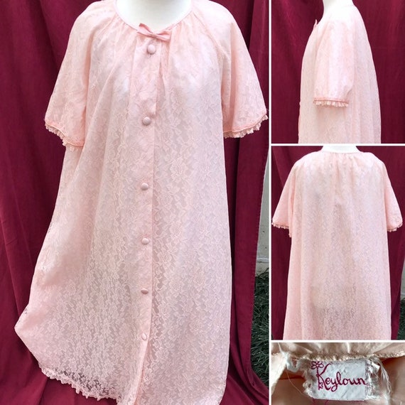 Lovely Pink Lace Keyloun Dressing Gown/House Dress
