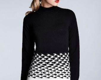 Soft merino wool sweater / black sweater / womens jumper / wool jumper