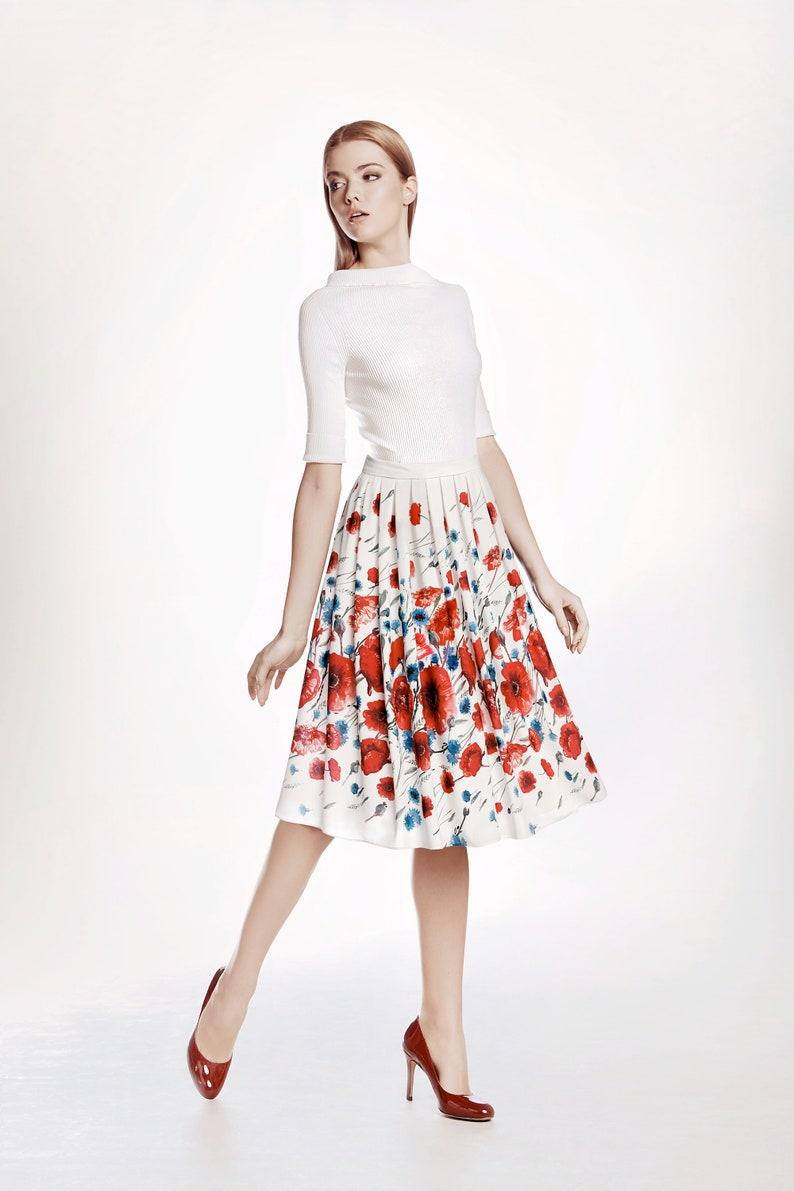 8baff4365b Floral print midi skirt POPPY by Rumour London