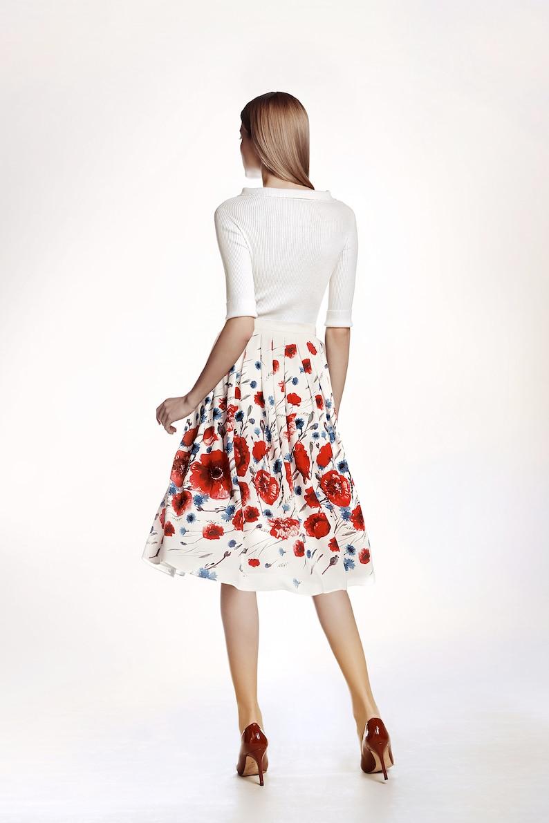 Floral print midi skirt POPPY by Rumour London