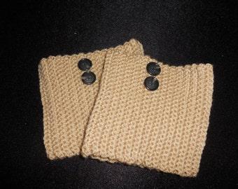 Crochet Buff Boot Cuffs with Buttons