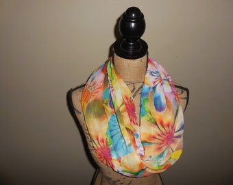 Floral Viscose Chunky Scarf