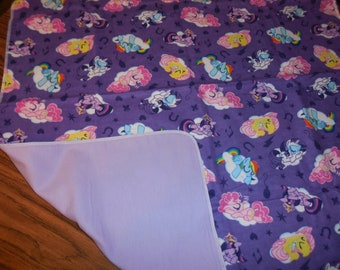 Little Pony Double Sided Receiving Blanket