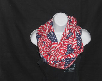 Infinity Scarf American Flag