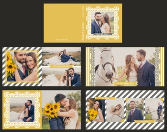 INSTANT DOWNLOAD - 12x12, 10x10, 8x8, 6x6  Wedding album template. Custom Wedding Album Design.WHCC Wedding Album Templates.