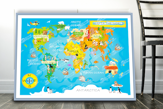 Nursery Printable, Animal world map poster Kids World Map Childrens on world religion map, big world map, most beautiful map, world language families map, 1910s world map, global world map, cold desert world map, old world map, rivers on world map, red sea on world map, america centered world map, spanish world map, cute world map, m world map, world political map, andes mountains on world map, tectonic plate boundaries world map, world time zone map, detailed world atlas map,
