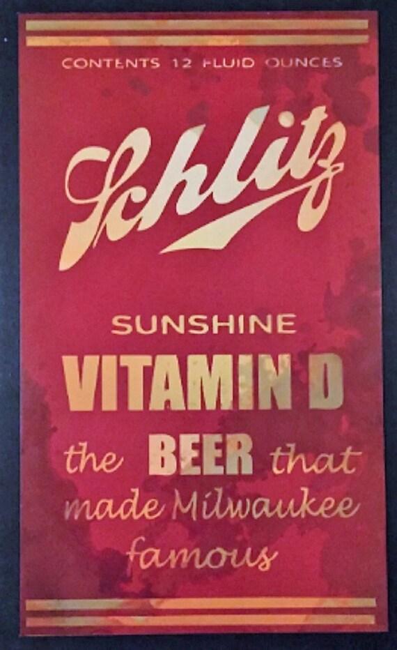 Schlitz-Sonnenschein Vitamin D Bier Blechschild ohne Rahmen | Etsy