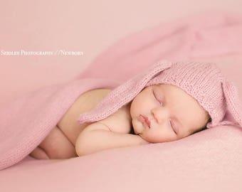 Wrap made with knitting machine Newborn Photography