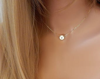 Initial Choker • Personalized Monogram • Silver Choker • Gift for Girlfriend • Her • Sister • Mom • Custom Stamped Initial  [CUD2] [804]