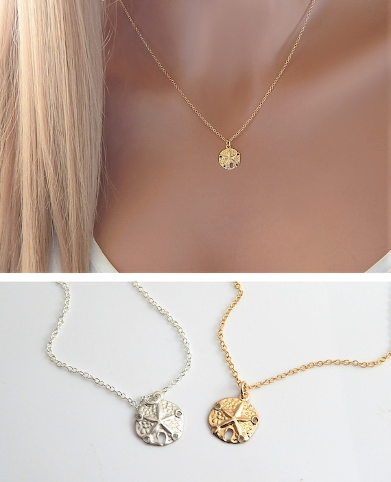 Delight Jewelry Antiqued Sand Dollar Angels Wear Scrubs Engraved Necklace