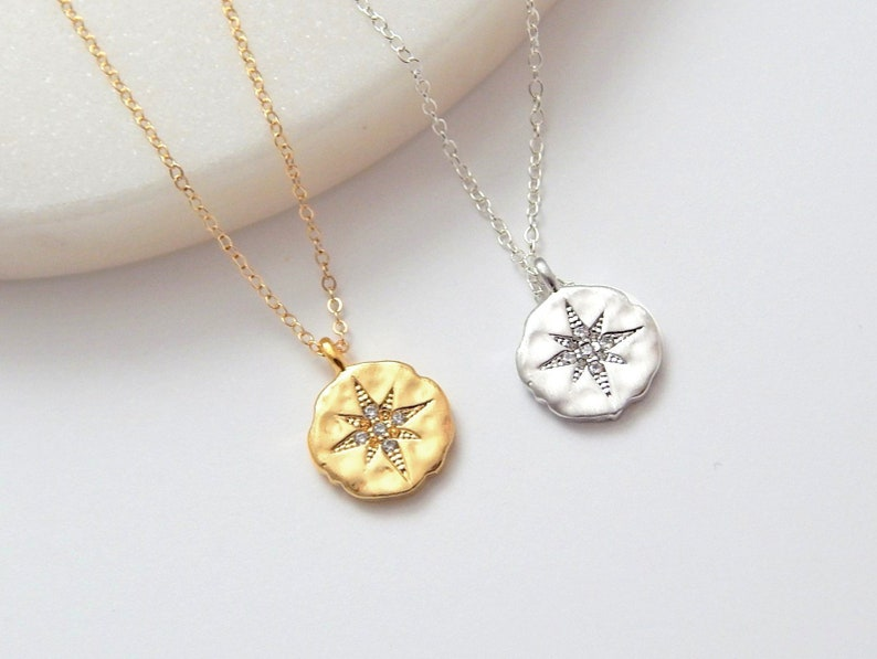 North Star Symbol Necklace Constellation Jewelry Celestial Pendant Polaris Charm Gift Chain for Her