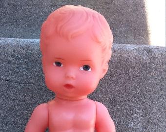 Doll Rubber Doll Rubber Vintage Doll Plasti Vintage Doll  E S Vintage Rubber Doll