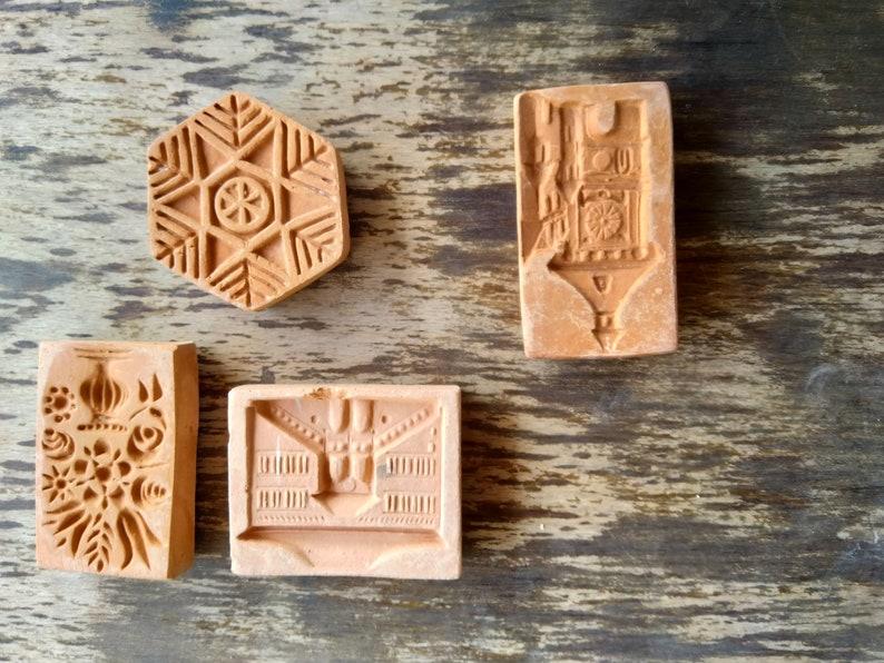 Terracotta Mold Ceramic Molds Vintage Set 4 Terraccotta Molds