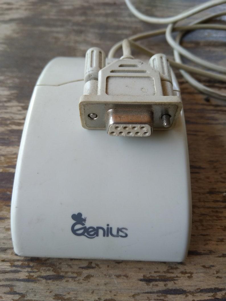 Genius Vintage Genius Computer Mouse Computer Mouse 3 Button Vintage Computer Mouse FSUGMZC4 Serial