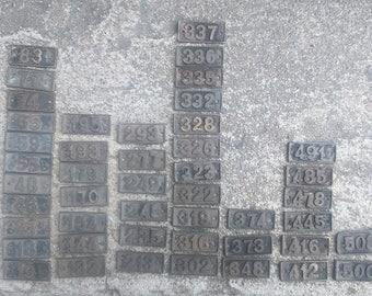 Numbers Industrial Numbers Vintage Industrial Numbers Brass Numbers